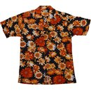 Kurzarm Hawaii Hemd KAMRO 14249 Orange Blume XXL